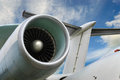 Airplane jet engine Royalty Free Stock Photo