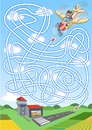 Airplane maze for kids