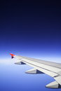 Airplane with nice blue sky. Royalty Free Stock Photos