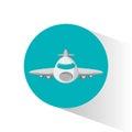 Airplane passenger flying icon