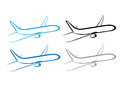Airplane plane airplane symbol stylized airplane vector flying vector design Stock Photos