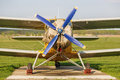 Airplane with propeller Royalty Free Stock Photo