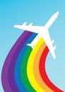 Airplane rainbow
