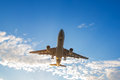 Airplane ready for landing Royalty Free Stock Photo