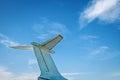 Airplane retro vintage tail detail Royalty Free Stock Photo