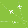 Airplane routes Royalty Free Stock Image