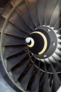 Airplane's jet engine Royalty Free Stock Photo