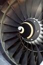 Airplane's jet engine Royalty Free Stock Photo