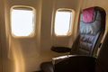 Airplane seat Royalty Free Stock Photo