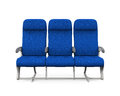 Airplane Seats Isolated Royalty Free Stock Photo