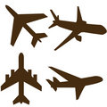 Airplane shapes Royalty Free Stock Images