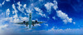 Airplane in the sky passenger airliner aircraft Stock Photography