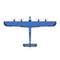 Airplane solar energy vector illustration.