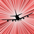 Airplane speed Stock Photo