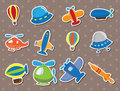 Airplane stickers Royalty Free Stock Photo