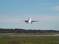 Airplane takeoff Royalty Free Stock Images