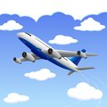 Airplane travelling to your destination vector illustration of Stock Photos