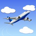 Airplane travelling to your destination vector illustration of Royalty Free Stock Images