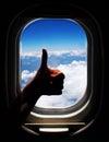 Airplane trip Royalty Free Stock Image