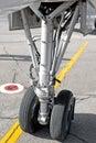 Airplane undercarriage Stock Photo