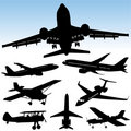 Airplane vector Royalty Free Stock Images