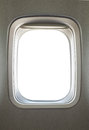 Airplane window empty blank glass Stock Images