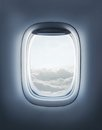 Airplane window high resolution open aircraft s Royalty Free Stock Photo