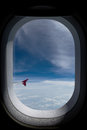 Airplane window Royalty Free Stock Photo