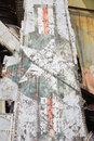 Airplane wreckage detail of an in the war museum hanoi vietnam Royalty Free Stock Photography