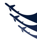 Airplanes background vector illustration of the Stock Image