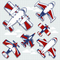 Airplanes cartoon for childish decoration set of funny in vector format very easy to edit individual objects Royalty Free Stock Images