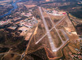 Airport aerial landscape Stock Photography