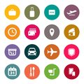Airport and airlines services abstract background color icons Royalty Free Stock Images