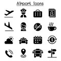 Airport & Aviation icon set Royalty Free Stock Photo