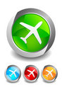 Airport Buttons Royalty Free Stock Images