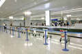 Airport carousel emputy in the shanghai in china Royalty Free Stock Image
