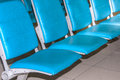Airport chair waiting for the plane Royalty Free Stock Images
