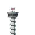 Airport control tower isolated on white background Royalty Free Stock Photo