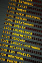Airport departures arrivals board Royalty Free Stock Photo