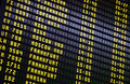 Airport Departures Board Royalty Free Stock Photo