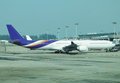 Airport famous singapore changi airplane in Stock Photography
