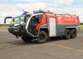 Airport Fire Tender Royalty Free Stock Photography