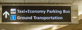 Airport Ground Transportation Sign Royalty Free Stock Photo