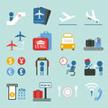 Airport icon design set II Royalty Free Stock Photo
