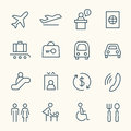 Airport icon set Royalty Free Stock Photo