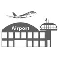 Airport icon, vector illustration. Royalty Free Stock Photo