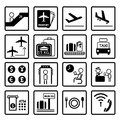 Airport icons design set Stock Photography
