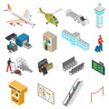 Airport Icons Set Royalty Free Stock Photo