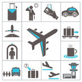 Airport icons set for you design Royalty Free Stock Photography