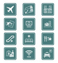 Airport icons | TEAL series Royalty Free Stock Image